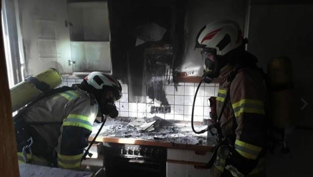 Die Floriani konnten das Feuer löschen. (Bild: Freiwillige Feuerwehr Seekirchen)