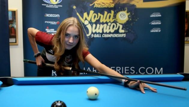 Anna Riegler greift bei der Junioren-WM in Klagenfurt nach dem Finaleinzug (Bild: Kuess)