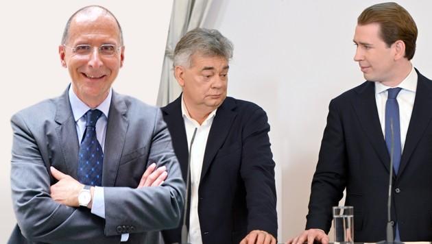 """Peter Filzmaier analysiert in der """"Krone"""" die ökosoziale Steuerreform der türkis-grünen Bundesregierung. (Bild: APA/NEUBAUER, Josef Pail, Krone KREATIV)"""