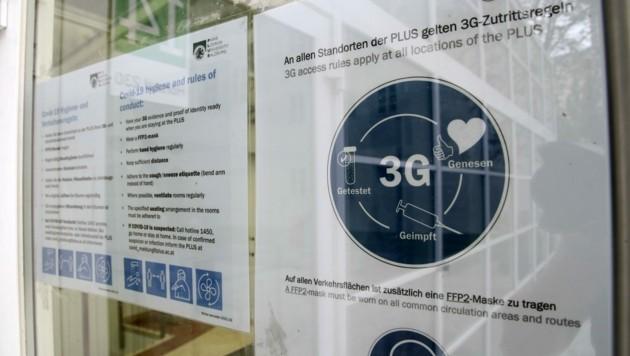 An der Uni gilt die 3G +1- Regel (Bild: Tröster Andreas)