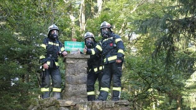 Michael Strasser, Simon Daspelgruber und Sebastian Zauner von der Feuerwehr Münzkirchen (Bild: FF Münzkirchen)