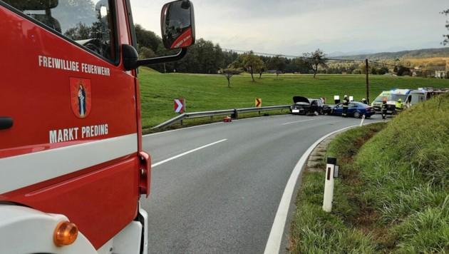 Die Feuerwehren Preding und Zwaring-Pöls waren im Hilfseinsatz. (Bild: FF Preding)