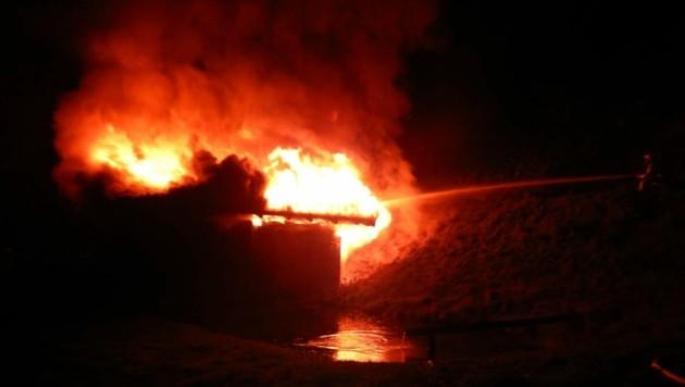 Hütte brannte komplett ab (Bild: FF Bad Hofgastein)