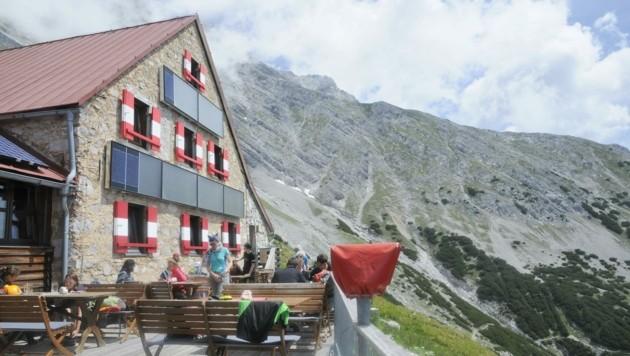 Auch die Bettelwurfhütte verzeichnete einen Rückgang an Tagesgästen. (Bild: Peter Freiberger)