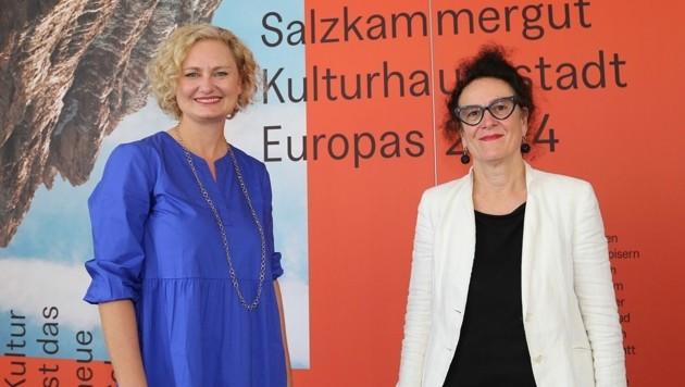 Führungsduo Manuela Reichert und Elisabeth Schweeger (r.). (Bild: Marion Hörmandinger)