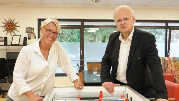 Freuen sich über den erfolgreichen Start: Jugendbetreuerin Manuela Leoni und Stadtchef Reinhard Resch. (Bild: Gabriele Moser)