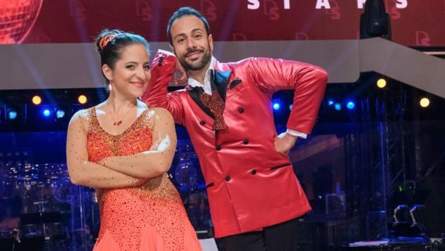 Zählen zu Favoriten: Caroline Athanasiadis und Danilo Campisi (Bild: ORF)