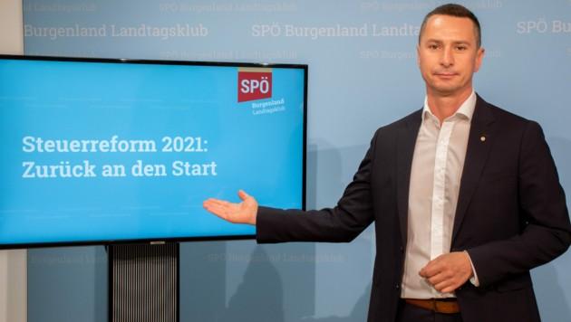 Robert Hergovich fordert eine Überarbeitung der Steuerreform. (Bild: SPÖ Klub)