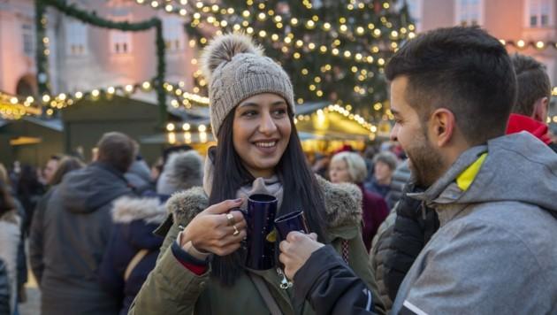 Heuer wieder möglich: Glühwein am Christkindlmarkt (Bild: Susi Berger/ camera suspicta)