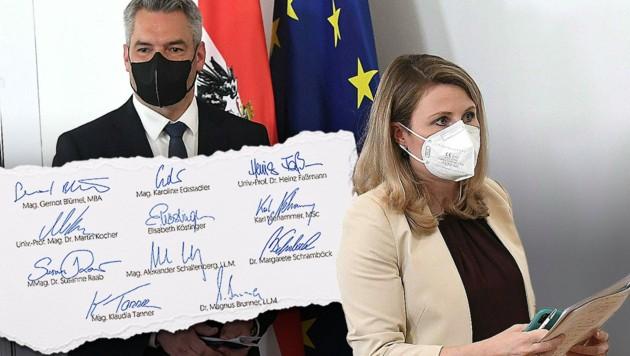 (Bild: ÖVP, APA/HELMUT FOHRINGER, stock.adobe.com, Krone KREATIV)