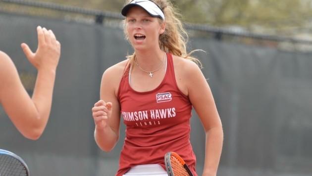 rumpft im College-Tennis groß auf: Die Eugendorferin Karolin Kirchtag. (Bild: Karolin Kirchtag)