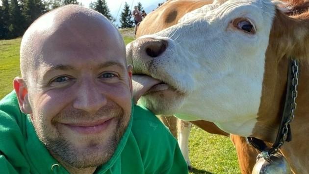 Eishockey-Crack Ben Blood genießt die Natur in der Steiermark (Bild: Blood)