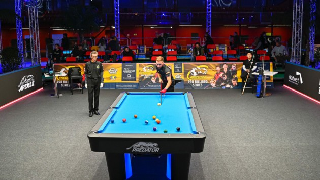 Im Sportpark Klagenfurt herrscht seit Mittwoch Billard-Action (Bild: www.jpparmentier.com)