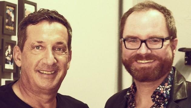 """""""Krone""""-Redakteur Christoph Bathelt traf Viktor Gernot vorab zum persönlichen Gespräch. (Bild: Christoph Bathelt)"""