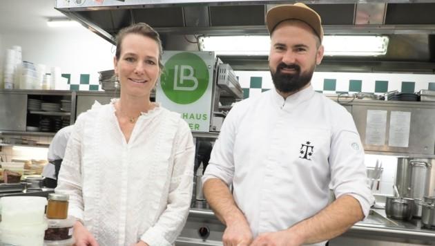 Kulinarisch spannend machten es Susanne Dorfer und Spitzenkoch Lukas Nagl (OÖ) im Landhaus Bacher in Mautern. (Bild: Gabriele Moser)