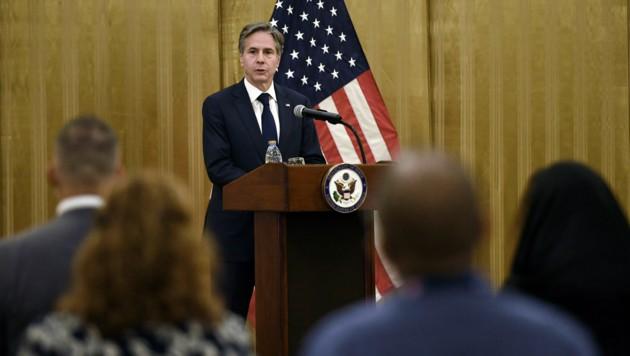 US-Außenminister Antony Blinken will eine Delegation nach Katar schicken, die mit den Taliban verhandeln soll. (Bild: AP)