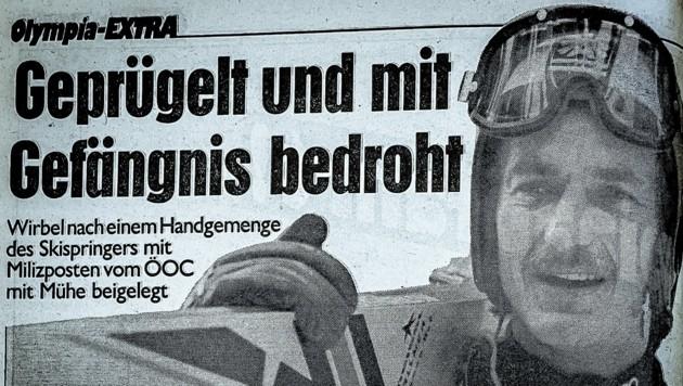 Nach einer Polizeirauferei in Sarajewo wurde Wallner vom Skiverband im Stich gelassen. (Bild: Wallner Hannes)