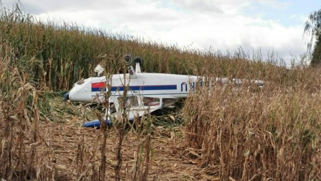 Der Pilot und die Passagierin samt Hund blieben unverletzt. (Bild: Georg Bachhiesl)