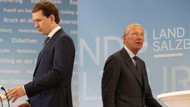 Landeshauptmann Wilfried Haslauer stellt sich weiter hinter Noch-Kanzler Sebastian Kurz (Bild: Tröster Andreas)