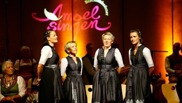 """""""De cater"""" aus Südtirol präsentierten ein ladinisches Lied mit dem Titel """"cun te"""" (Bild: Gerhard Schiel)"""