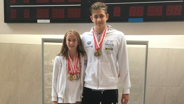 Katharina Schießendoppler und Luka Mladenovic (Bild: Schwimmunion Salzburg)
