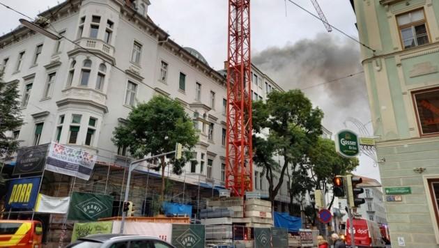 Rauch über Graz am Montagmorgen (Bild: Wolfgang Pöltl)