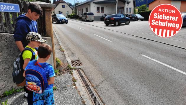 Vor der Schule soll eine digitale Anzeigetafel aufgestellt werden. (Bild: Pirzl)