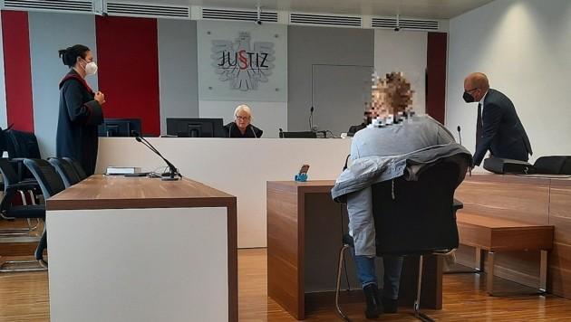 Die angeklagte Pädagogin stritt die Vorwürfe vehement ab. (Bild: P. Huber)