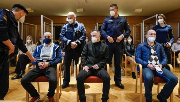 Der Mordprozess gegen die drei lettischen Staatsbürger wurde am Mittwoch vertagt. (Bild: Alexander Schwarzl)