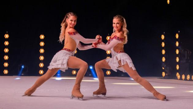 """Cheyenne und Valentina Pahde wirken bei """"Holiday on Ice"""" mit. (Bild: Rolf Vennenbernd / dpa / picturedesk.com)"""