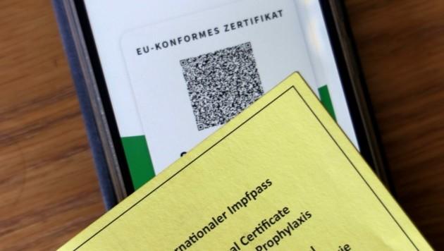 Geht es nach der Bundesregierung, so wird der grüne Pass bald am Arbeitsplatz eine Rolle spielen (Bild: Karl Schöndorfer)