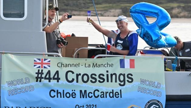 Schwimmerin Chloe McCardel (36) (Bild: Ben STANSALL / AFP)