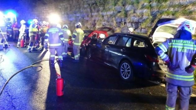 Schwerer Unfall in Lofer (Bild: FF Lofer)
