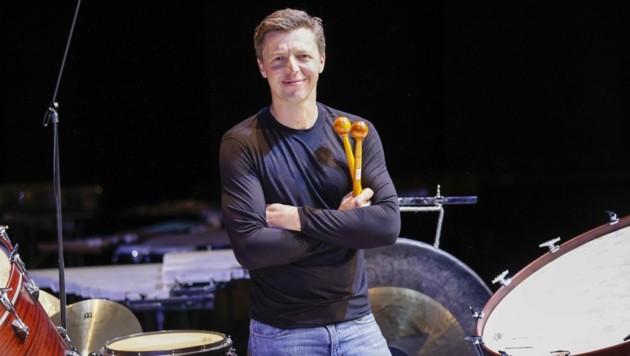 """Er lässt das Konzerthaus beben! """"Musik ist Leidenschaft, die schönste Sprache der Erde"""", sagt Grubinger. (Bild: Tschepp Markus)"""