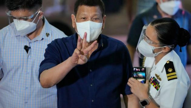 Rodrigo Duterte (Bild: AP Photo/Aaron Favila, Pool)