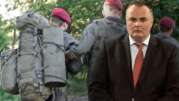 """Verteidigungsminister Hans Peter Doskozil fordert """"lückenlose Aufklärung"""". (Bild: AP/Tamas Kovacs, Hannes Wallner)"""