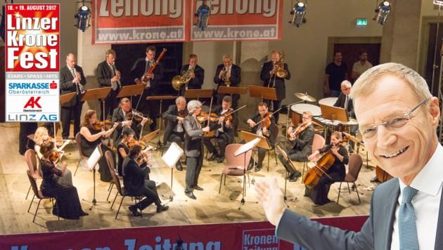 Das Johann Strauß Ensemble ist bekannt für seine Auftritte. LH Stelzer öffnet dafür das Landhaus. (Bild: Jack Haijes, Werner Kerschbaummayr)