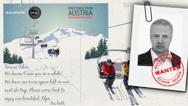 """Diese """"Postkarte"""" verschickte die Europol im Rahmen ihrer Sommerkampagne vor einigen Jahren."""