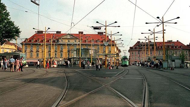 Der Jakominiplatz in Graz