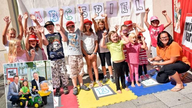 Auf die Kids warten Spiele. (gr. Bild). Charly Kronberger (kl. Bild, l.) und Thomas Schrenk. (Bild: Markus Wenzel)