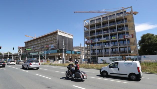 Neuer Wohnraum in Graz ist begehrt â013 hier entsteht das â01EBrauquartierâ01C in Puntigam. (Bild: Jürgen Radspieler)