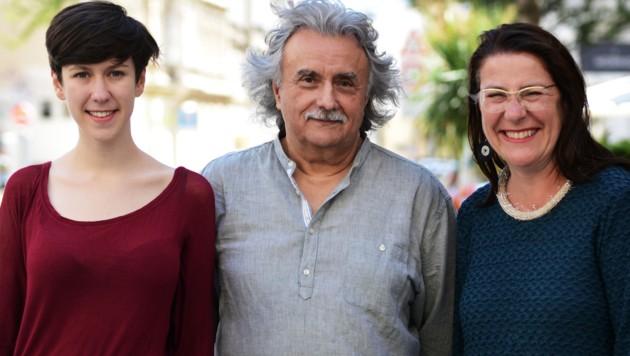 Flora Petrik, Mirko Messner und Ulli Fuchs ziehen als Spitzentrio für die KPÖ Plus in die Wahl. (Bild: KPÖ Plus)