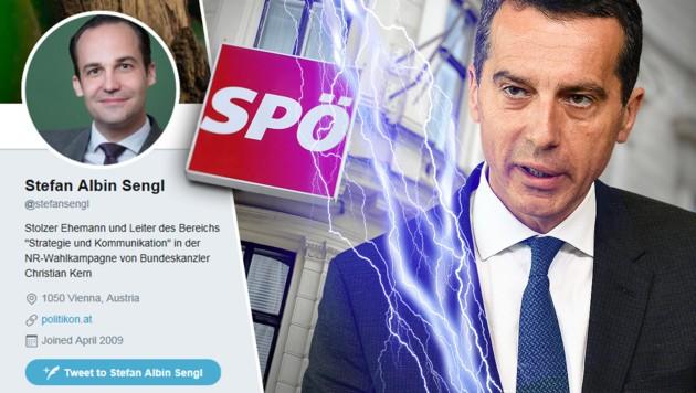 Stefan Sengl war für die Leitung des Bereichs Werbung, Kommunikation, Strategie engagiert worden. (Bild: APA/ROLAND SCHLAGER, AFP, thinkstockphotos.de, twitter.com)