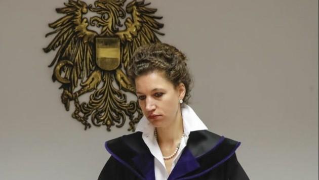 Richterin Geisselhofer wird heute über Heinz Schaden und weitere 6 Angeklagte entscheiden. (Bild: Markus Tschepp)