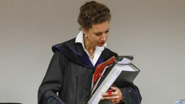 Richterin Anna Sophia Geisselhofer wehrte Attacken von Schaden-Anwalt Müller ab. (Bild: Markus Tschepp)