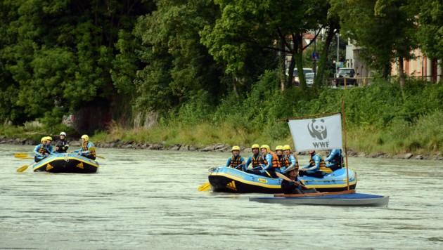 Zwischen Imst und Kirchbichl können weite Strecken mit dem Boot zurückgelegt werden. (Bild: FISCHER ANDREAS)