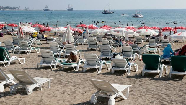 Der Strand von Side (Bild: Klemens Groh)
