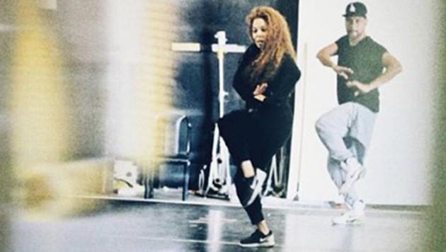 Janet Jackson Anfang August 2017 bei einer Probe für ihre Welttournee (Bild: www.PPS.at)