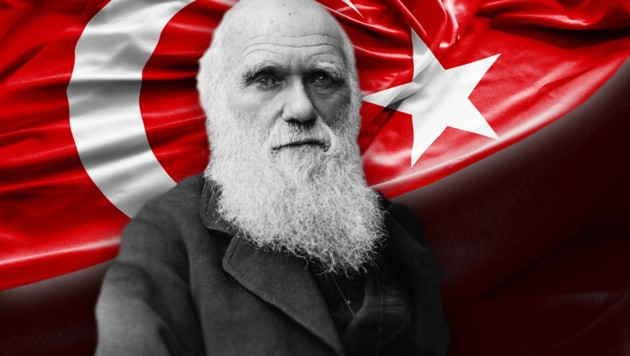 Die Evolutionstheorie von Charles Darwin kommt bei der türkischen Führung nicht gut an.