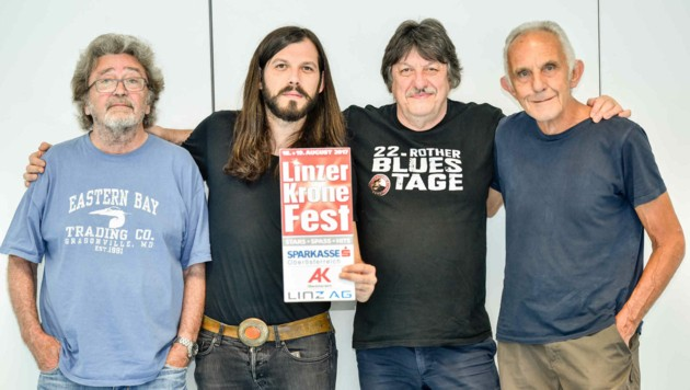 Ten Years After - Chick Churchill, Marcus Bonfanti, Ric Lee, Colin Hodgekinson (v.l.) - im Interview (Bild: Markus Wenzel)